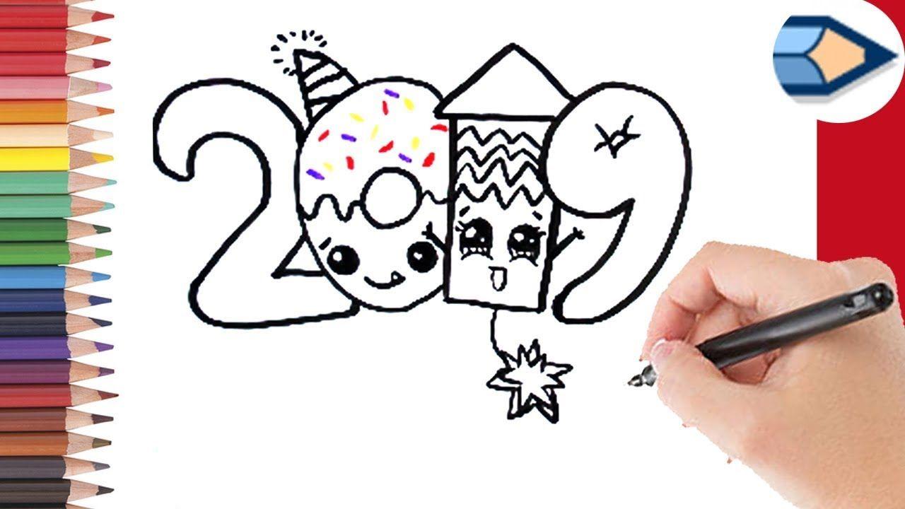 hoe teken je 2019 in bubbel letters leren tekenen voor