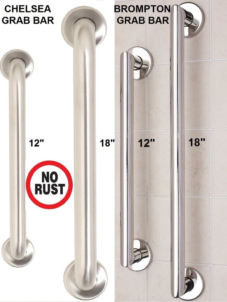 Bathroom shower stainless steel disability aid support handle grab ...