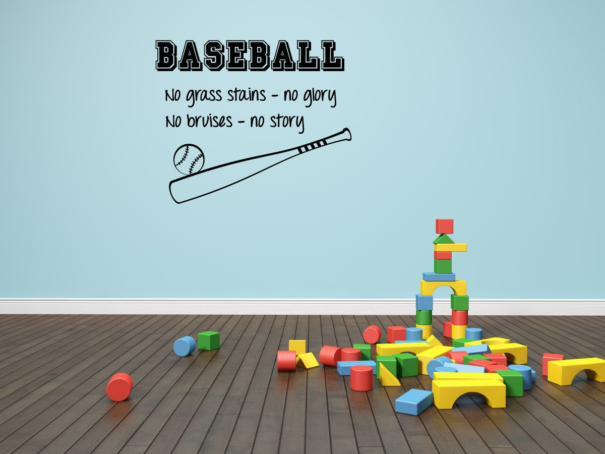 Baseball Quote Baseball Wall Decal Boys Room Decal By