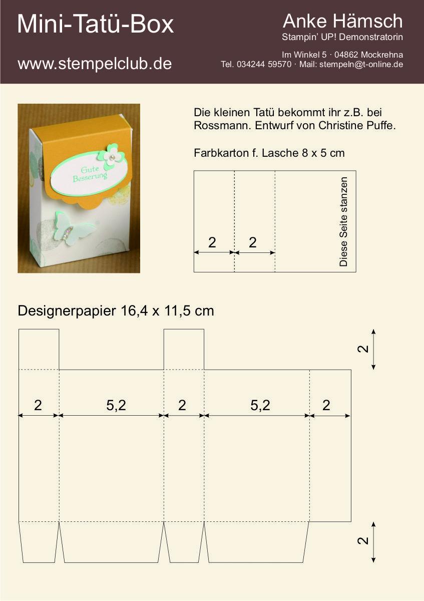 Teamtreffen 2014 - Projekt von Christine - Mini-Tatü-Box ...