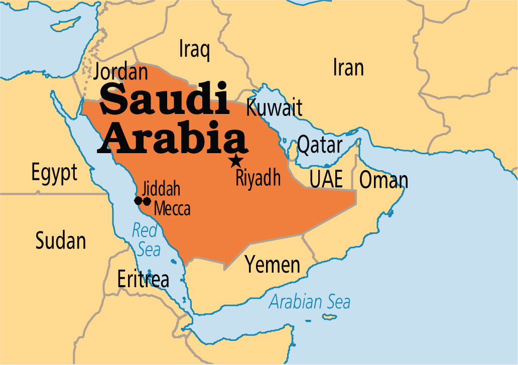 A map of Saudi Arabia class= | Saudi Arabian cuisine and ...