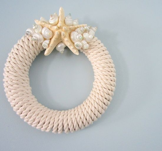 Beach Decor Starfish Wreath