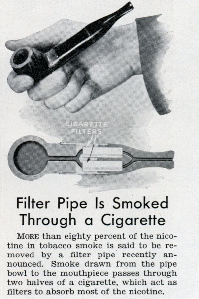 Filter Pipe Is Smoked Through a Cigarette | Modern Mechanix  sc 1 st  Pinterest & Filter Pipe Is Smoked Through a Cigarette | Modern Mechanix | Pipes ...