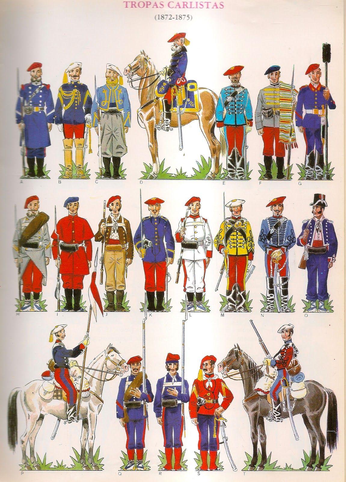 Pin di Alexander Goryn su Carlistes Uniformi militari