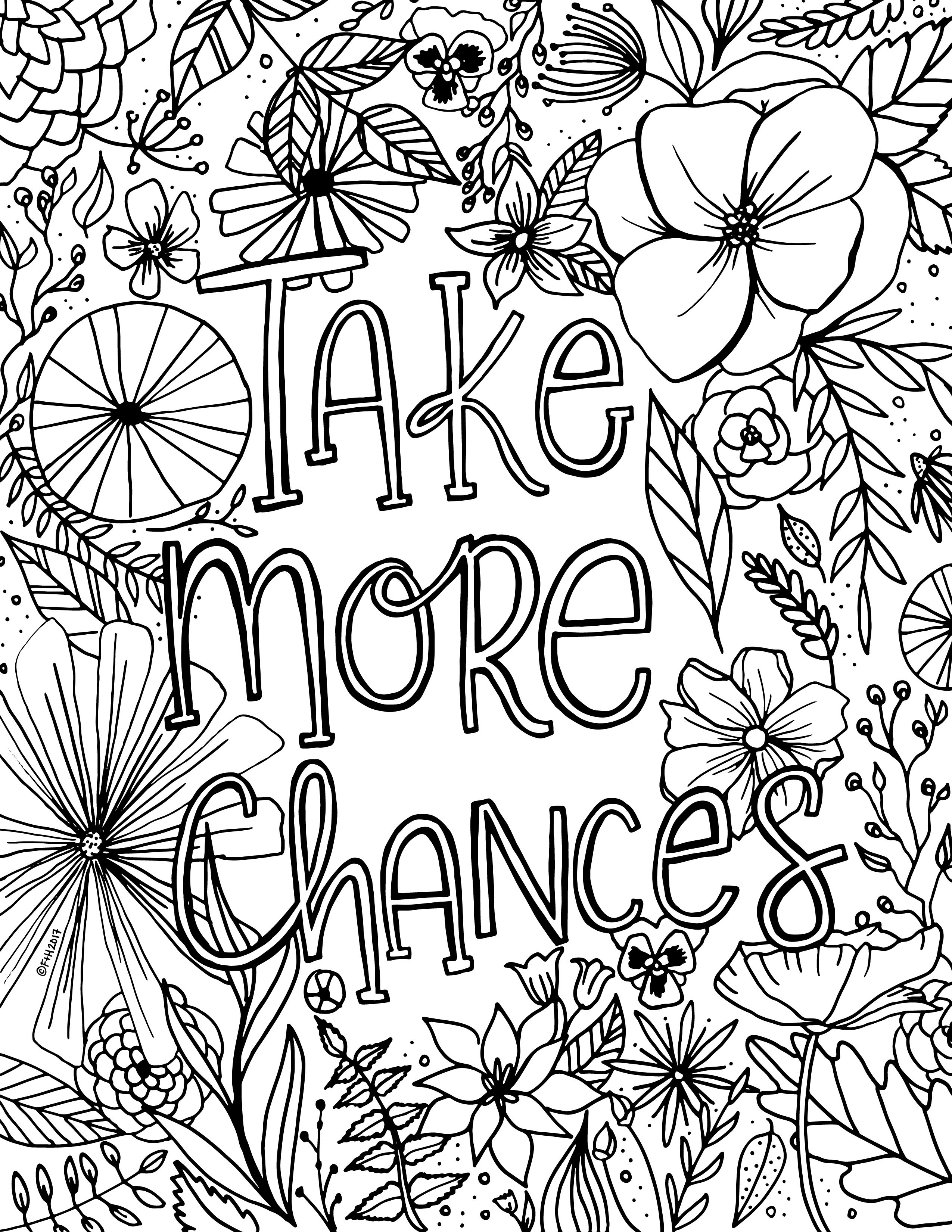 Ta Da The 30 Day Watercolor Challenge Fox Hazel Printable Flower Coloring Pages Quote Coloring Pages Coloring Pages Inspirational