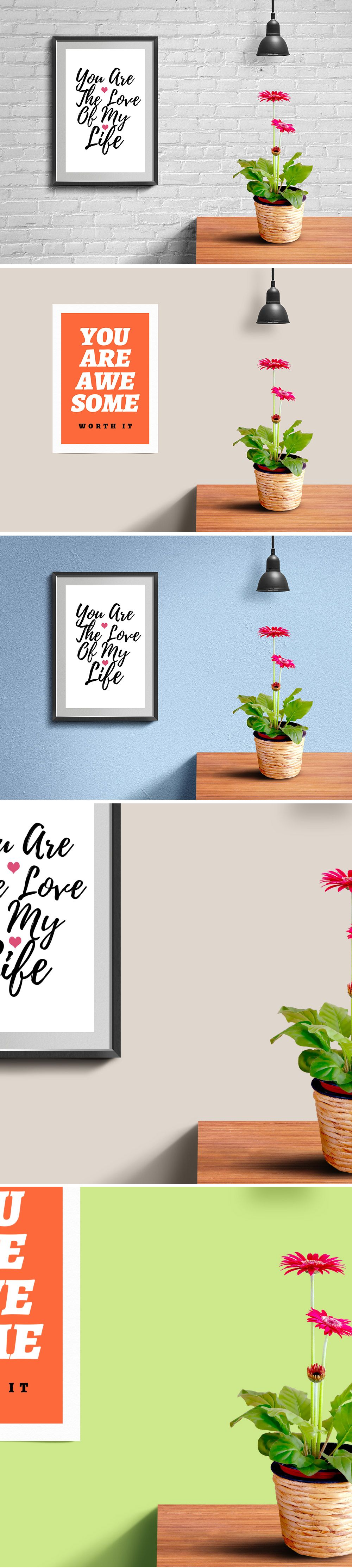 Wall Frame And Poster Mockup Psd Showcase Your Photos Or Creative