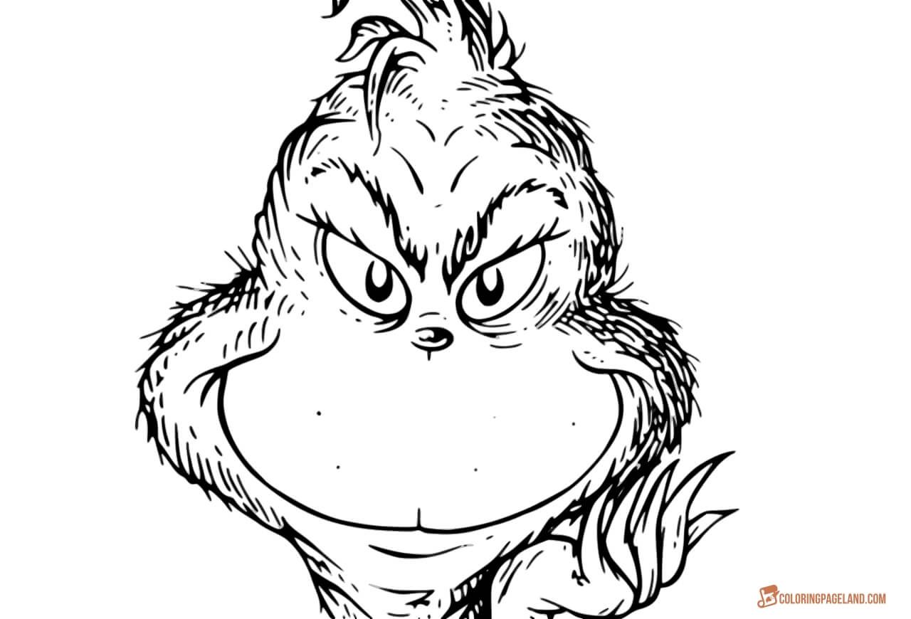 Grinch Coloring Pages Free Printable Templates in HD  Grinch