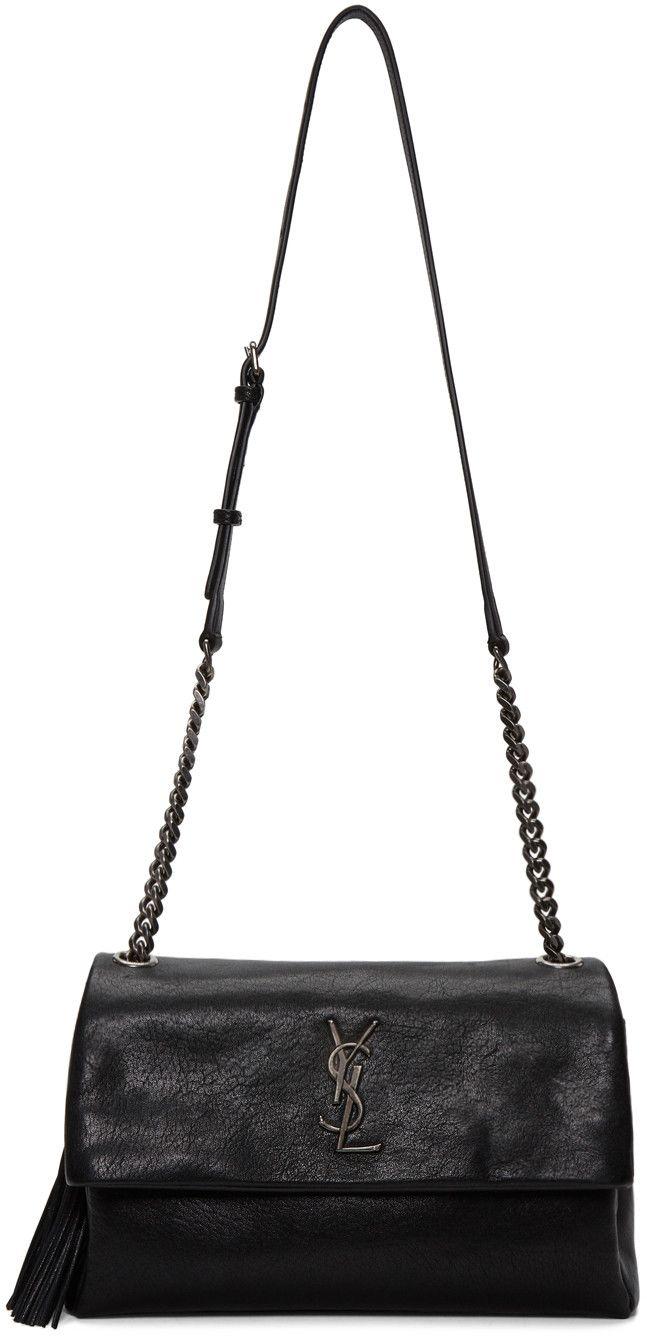 7e17cf4d9cf Saint Laurent - Black Monogram West Hollywood Bag   Fashion ...