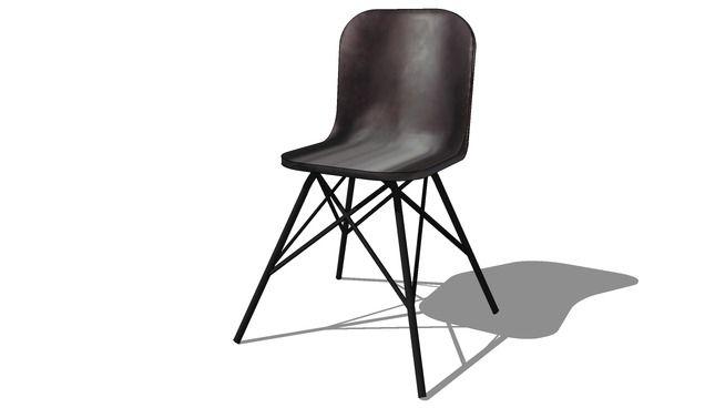 Large preview of 3D Model of Chaise noir AUSTERLITZ, Maisons du monde, réf 146293, prix: 129,90 €