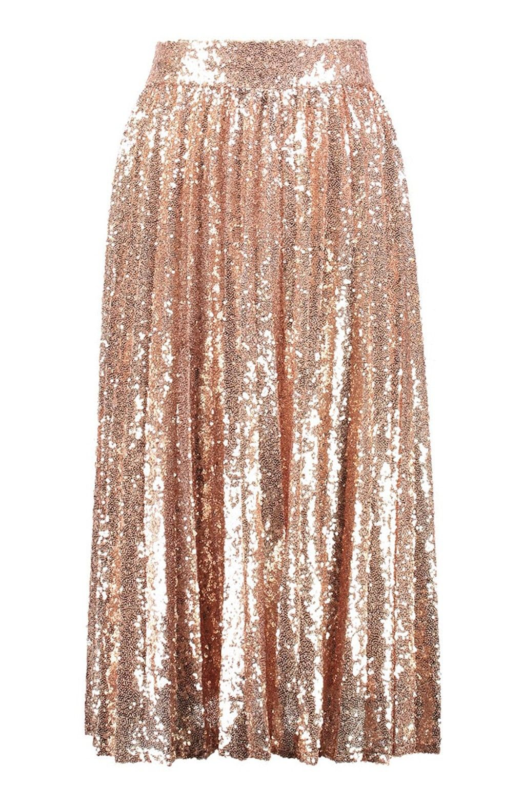 TFNC Boho Rose Gold Sequin Skirt | Wishlist Fashion | Pinterest ...