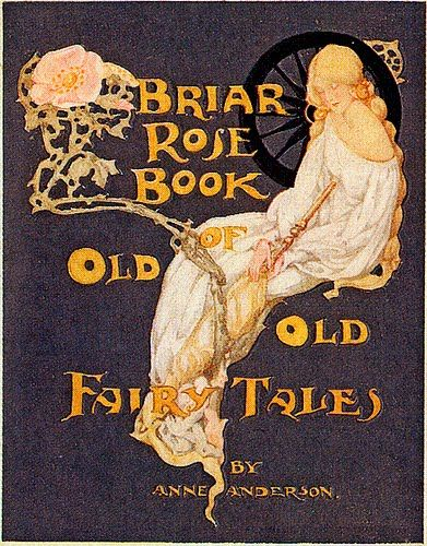 Vintage Book Covers  Briar Rose Book of Old Fairy Tales
