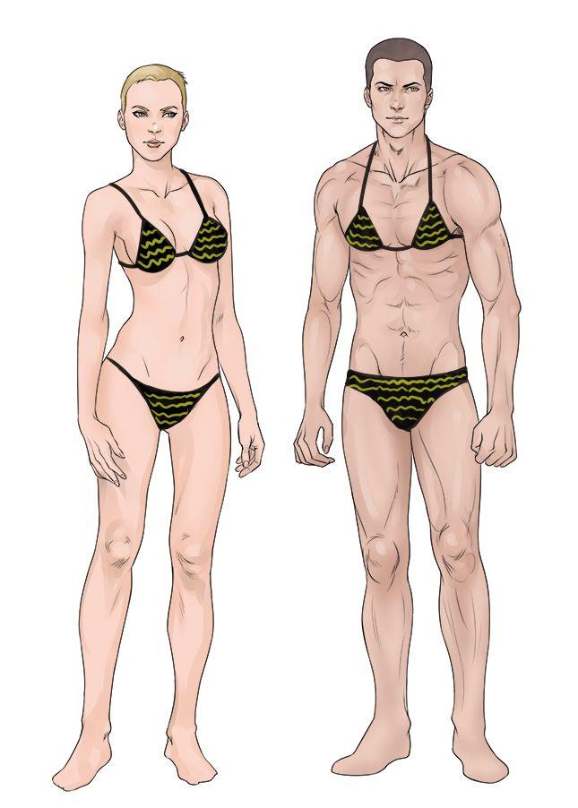 Male Female Semi-Realistic Bases For Sale By Sirwendigo-9141