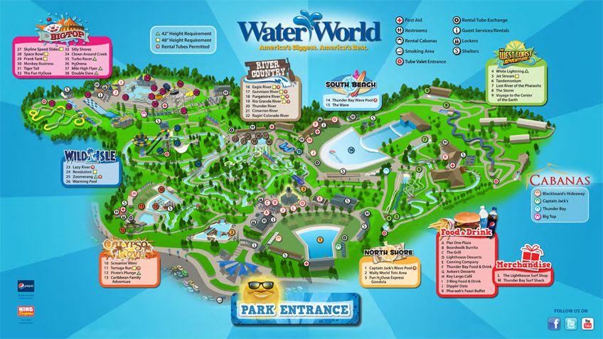 Water World Park Map Hoy estare todo el dia aqui con mis hijos y