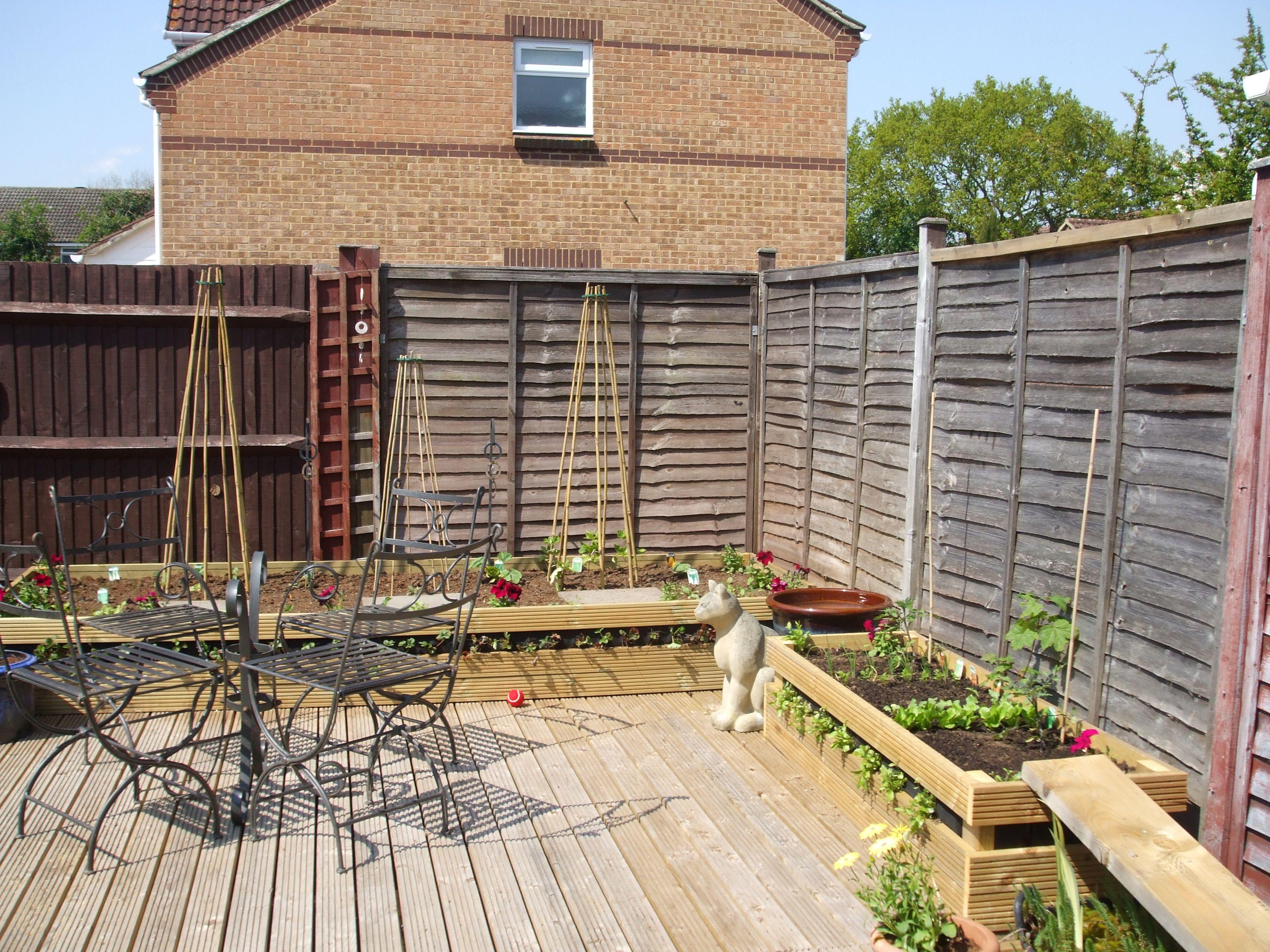 Veggie garden inspiration  New raised veg beds May   NOW back garden  Pinterest  Gardens