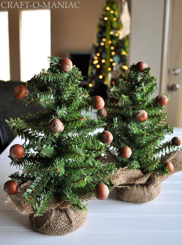 Mini Christmas Trees With Chestnuts