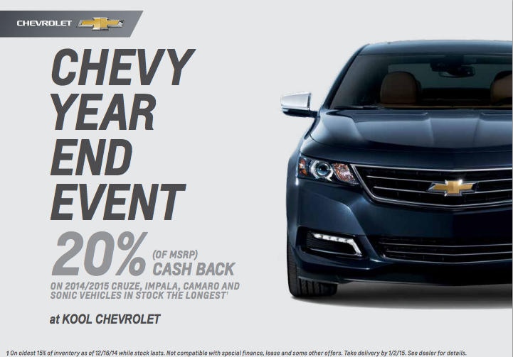 20 Off Chevy Msrp Pricing At Kool Chevrolet Chevy Cruze Chevrolet