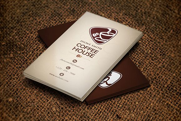 Creative Coffee Business Card Graphics On Creativework - Coffee business card template free