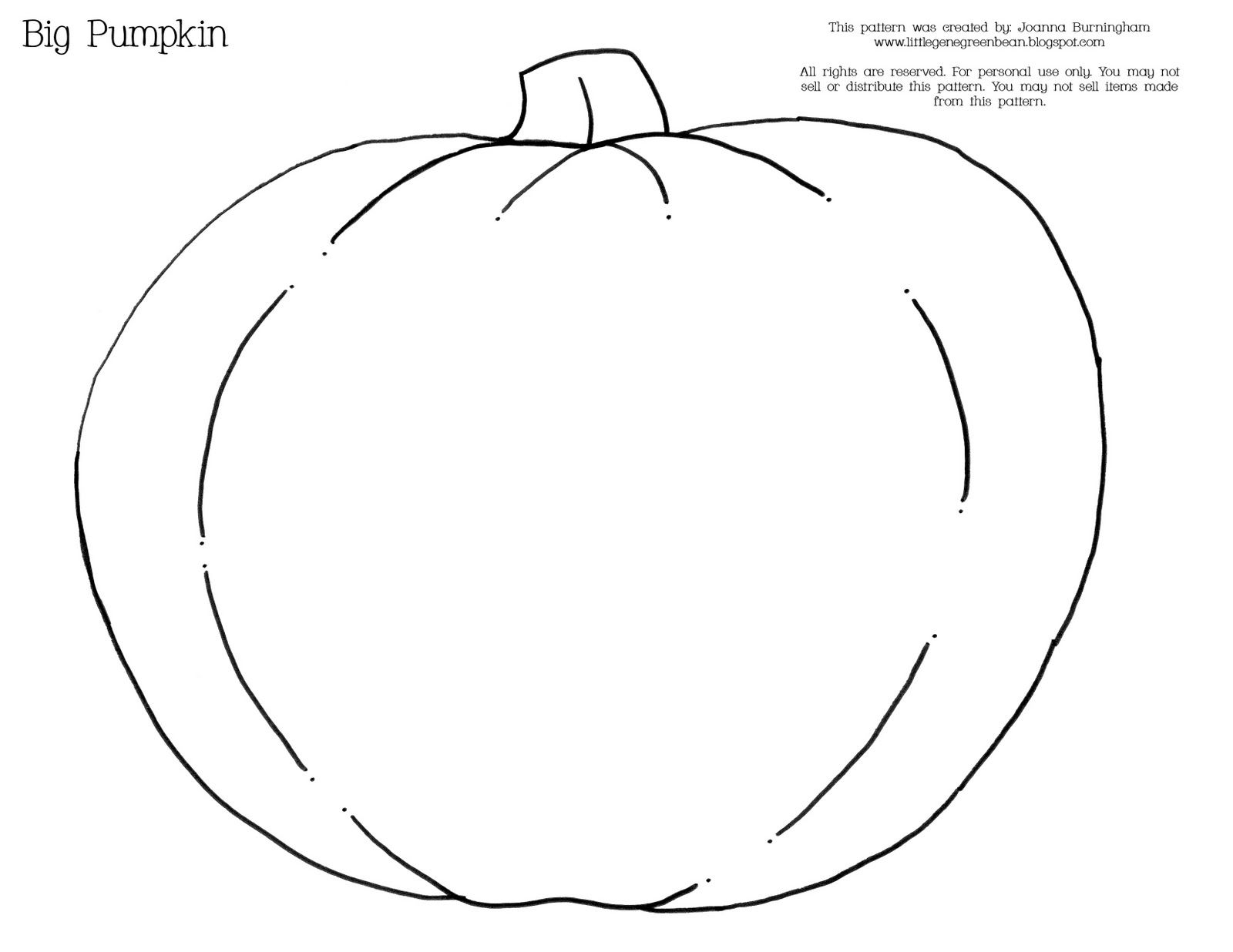 Big Pumpkin Printable