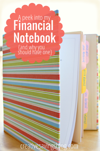 a peek into my financial notebook and why you should have one