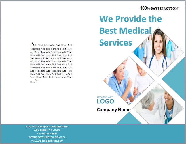 Medical Package Brochure Template  Medical Brochures Templates