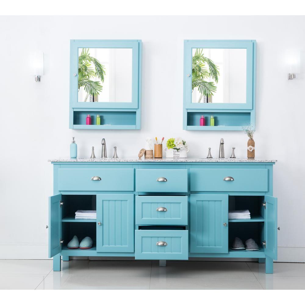 Home Decorators Collection Ridgemore 71 in. W x 22 in. D Double Bath ...
