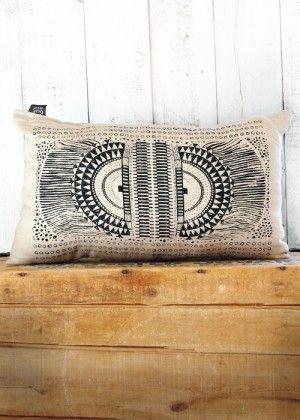 Just Luv'd on @Luvocracy | OKAPI LINEN PILLOW - HAND SCREEN PRINTED PILLOW - Okapi. Oatmeal Linen fabric