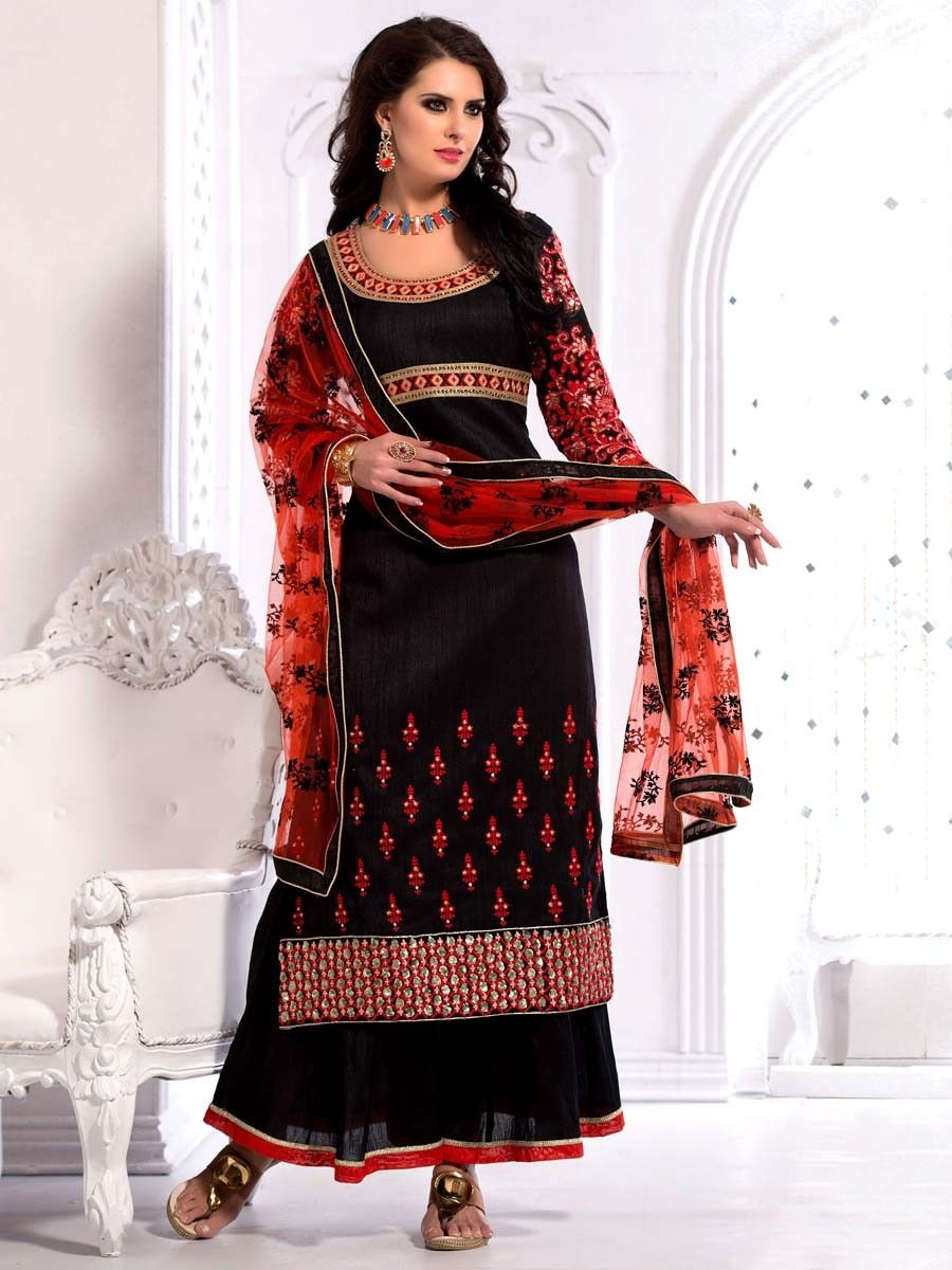 An excellent designer piece will add stars in your beauty and personality. Item Code: SLHP1305  http://www.bharatplaza.com/new-arrivals/salwar-kameez.html