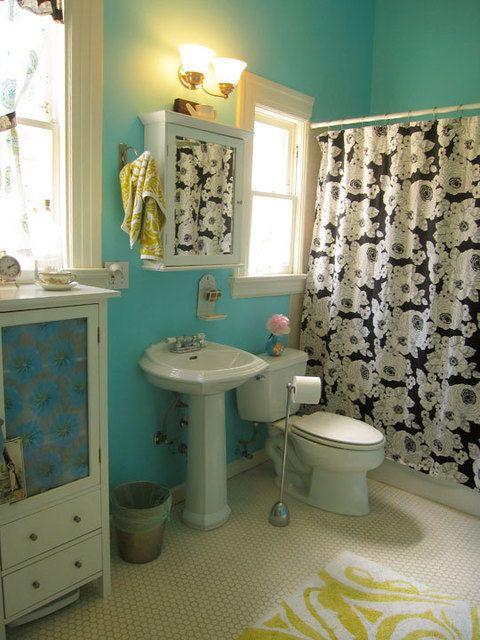 Vintage Farmhouse Apartment Therapy Home Tour Bathroom Color SchemesBathroom