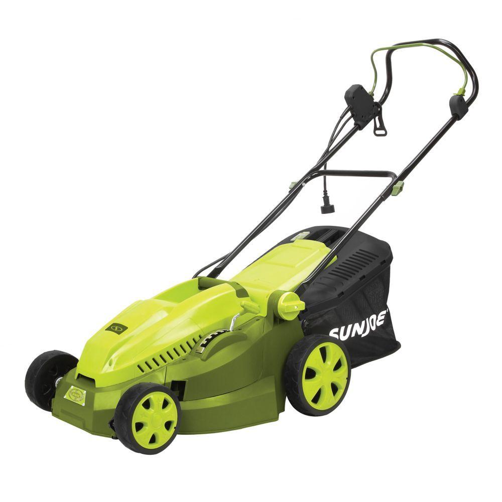 Mow Joe 16 Inch 12 Amp Electric Lawn Mower Mulcher Push Lawn