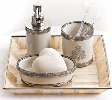 pom pom at home bathroom set set of traditional bath and spa accessories los angeles the bella cottage - Bathroom Accessories Los Angeles