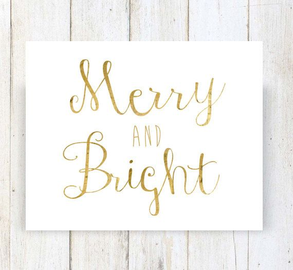 Merry And Bright wall art decor  Christmas by LillyLaManch on Etsy