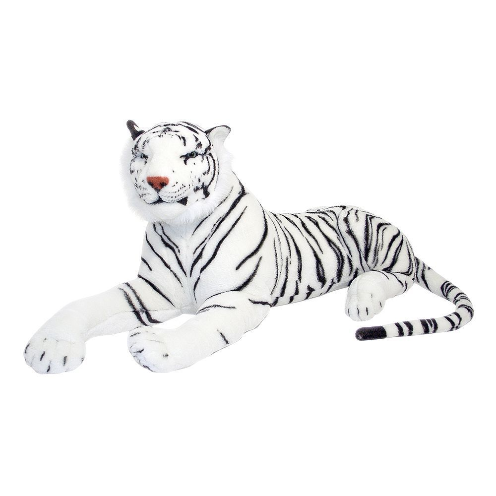 Melissa Doug White Tiger Plush Toy Giant Stuffed Animals