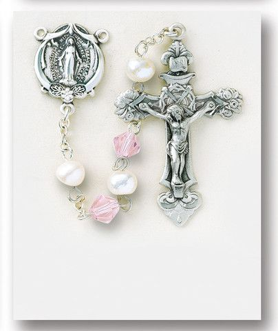 Image of Freshwater Pearl Sterling Rosary