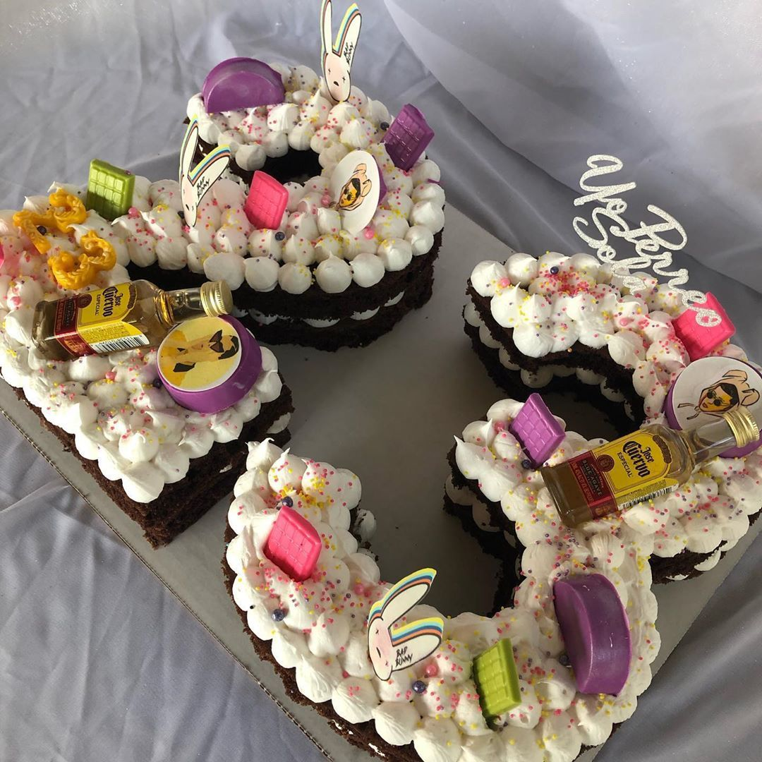 Bad bunny cake 23 thank you for your support melys_sweet