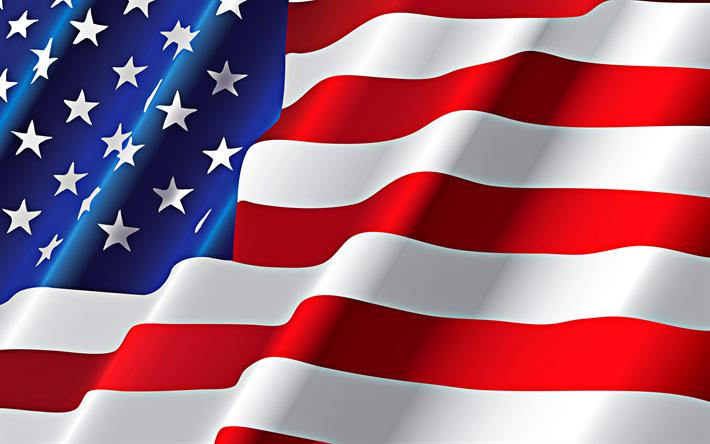 Download Wallpapers American Flag 4k Flag Of Usa 3d Flag National Symbol Usa Besthqwallpapers Com Bandeira Dos Eua Bandeira Dos Estados Unidos Dia Da Independencia Dos Eua