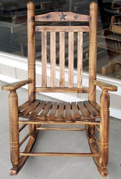 Texas Star Rocking Chair I Need Two Rustic Style Furniture
