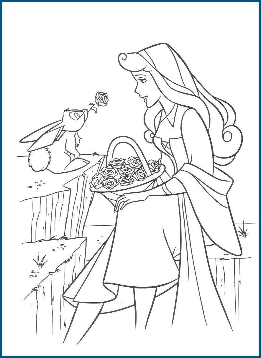 Dibujos De Colorear De Princesas De Disney Aurora Coloring Pages
