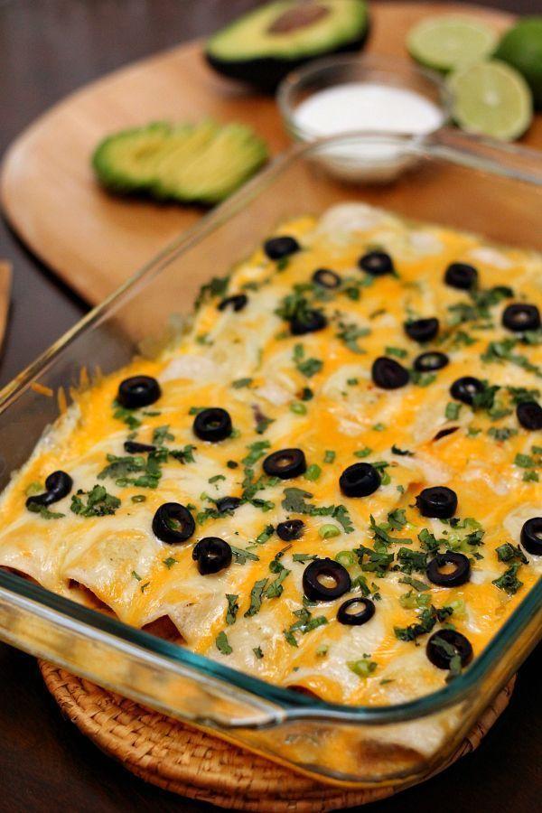 Vegetarische Enchiladas mit schwarzen Bohnen #vegetariandish