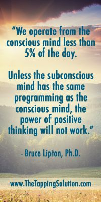 One of our favorite quotes from Bruce Lipton! #EFT #Tapping
