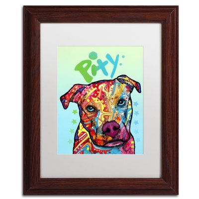 """Trademark Global 'Pity' by Dean Russo Framed Graphic Art Size: 14"""" H x 11"""" W x 0.5"""" D, Matte Color: White"""
