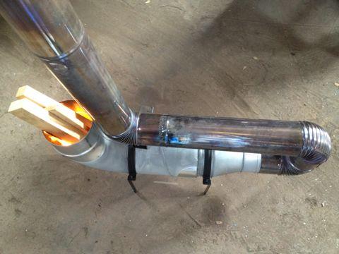 焚き火とバーボン 150fダクト管でロケットストーブ Rocket Stoves Diy Rocket Stove Rocket Stove Mass Heater