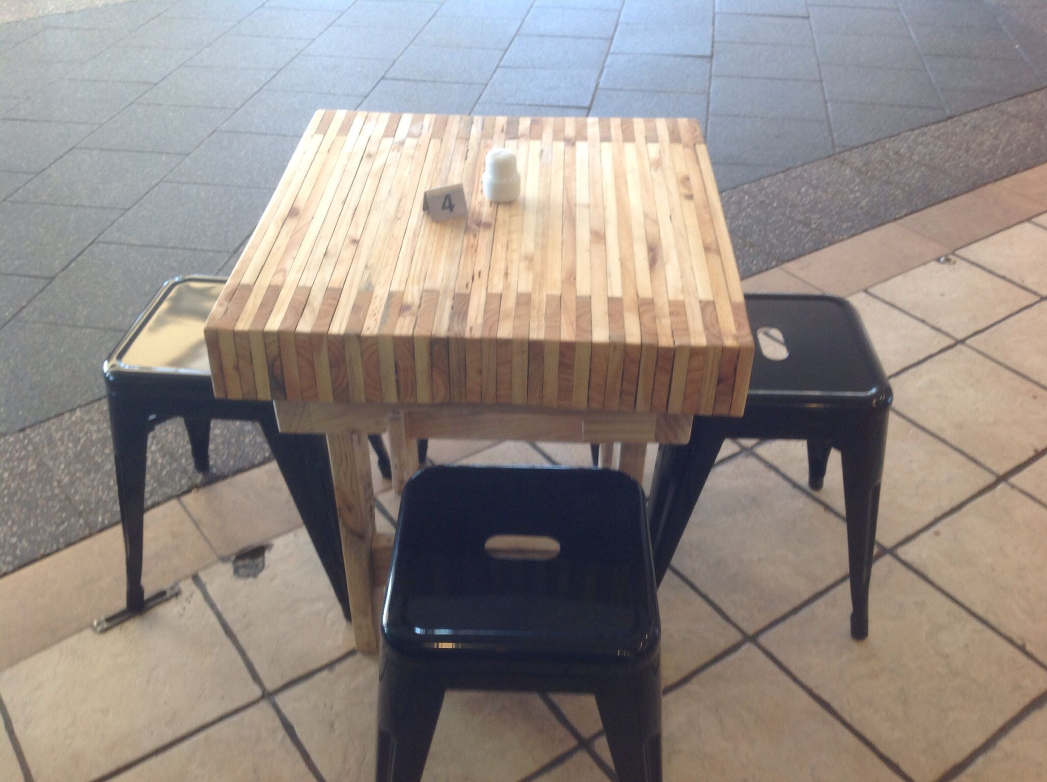 Butchers block reclaimed timber coffee table Custom made for De