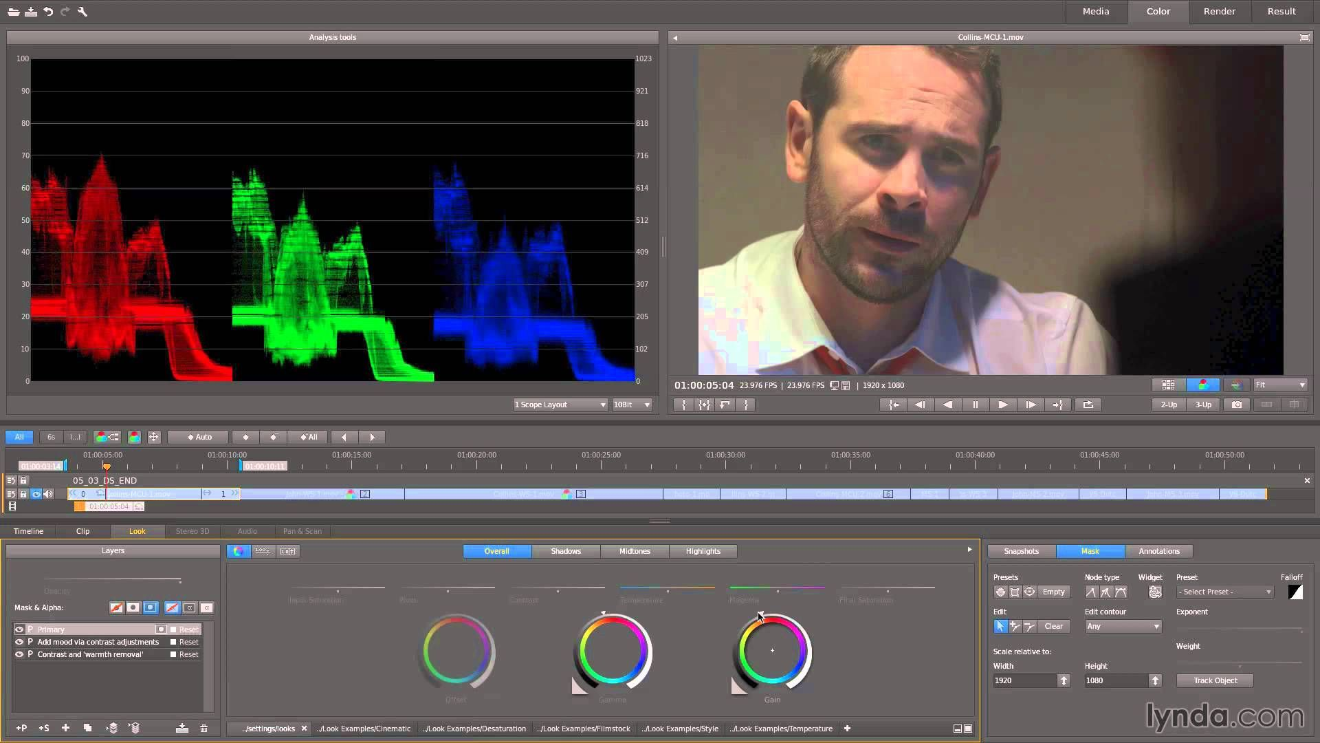 speedgrade tutorial: tracking a face   lynda   adobe tutorials