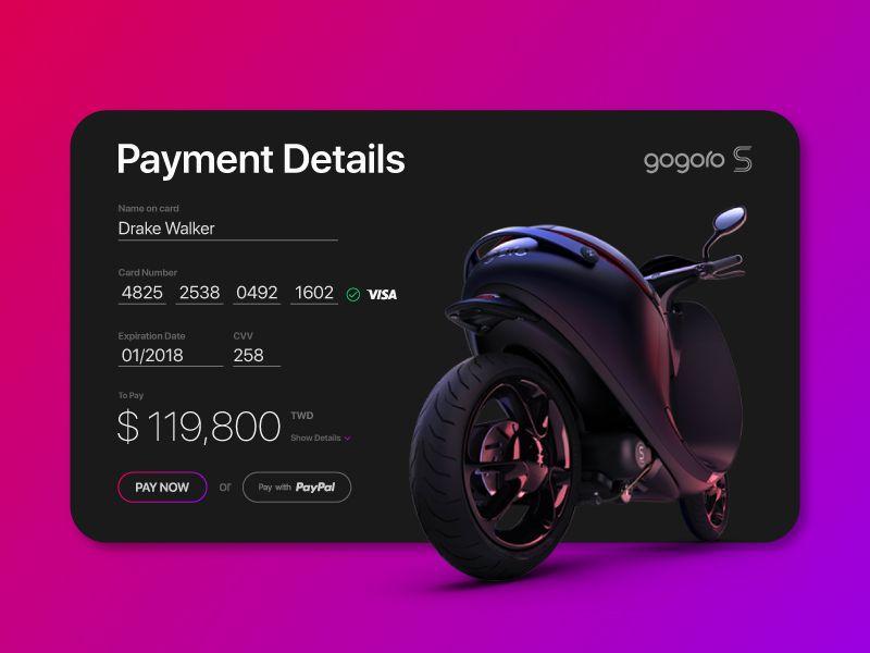Payment Details Form by Vincent Fan