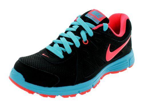 df6e82d5f51 Nike Women s Revolution 2 Black Atomic Red Gamma Blue Running Shoes 9 Women  US