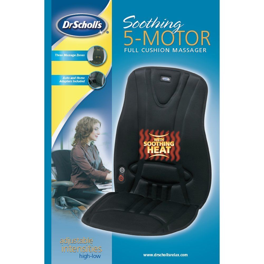 Electric Heating Pad Body Massager Chair Back Seat Cushion Comfort