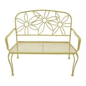 Garden Treasures L Steel/Iron Patio Bench At Lowes.this Would Look So Cute  On The Patio Out Back!
