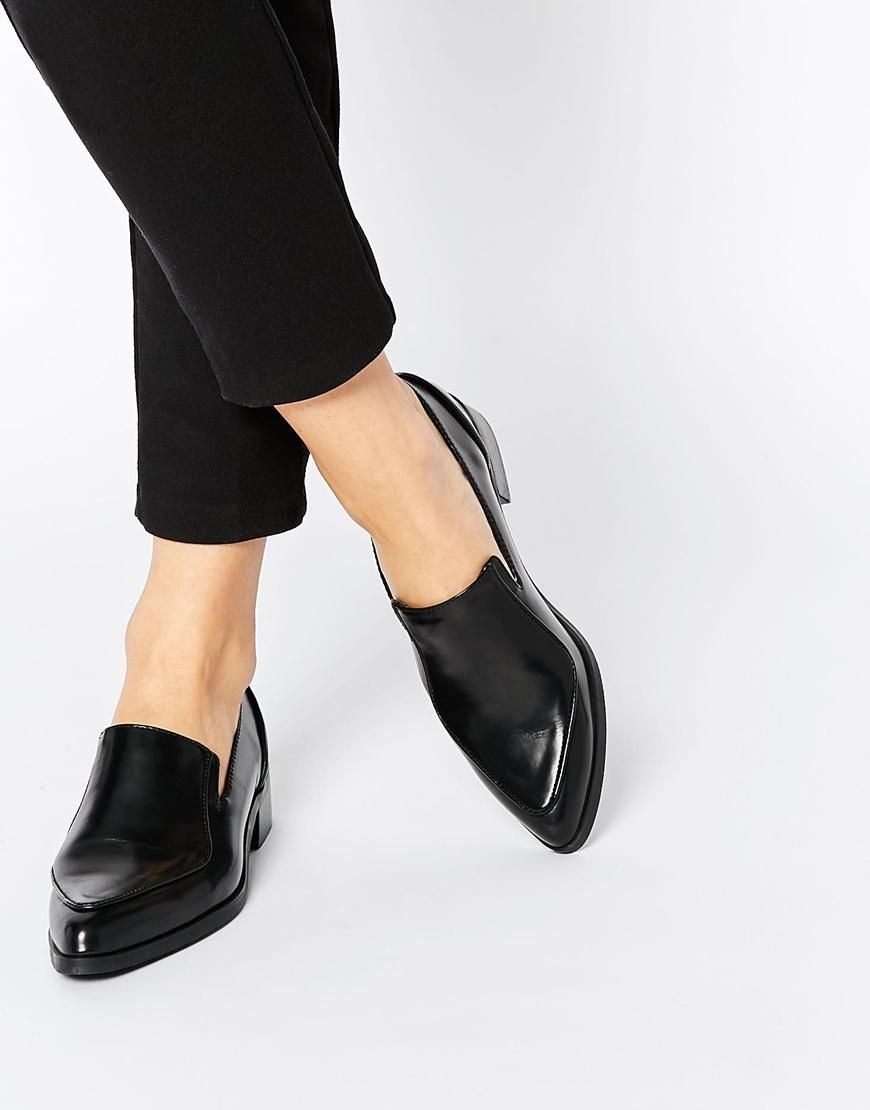 ASOS | ASOS MILES Pointed Flat shoes at ASOS i love a pointed toe shoe...goes with everything n makes your ordinary outfit extordinary!