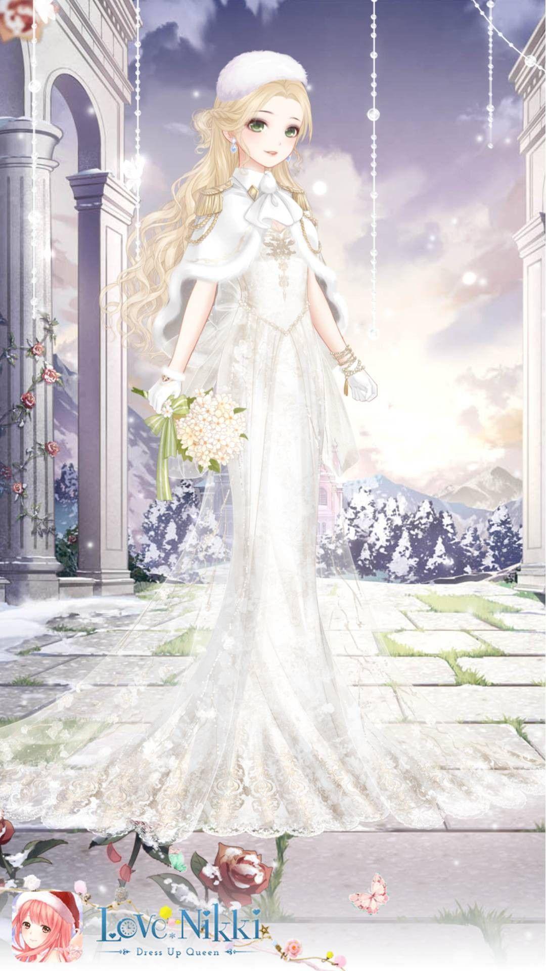 Winter wedding dress Wedding dress drawings, Anime dress