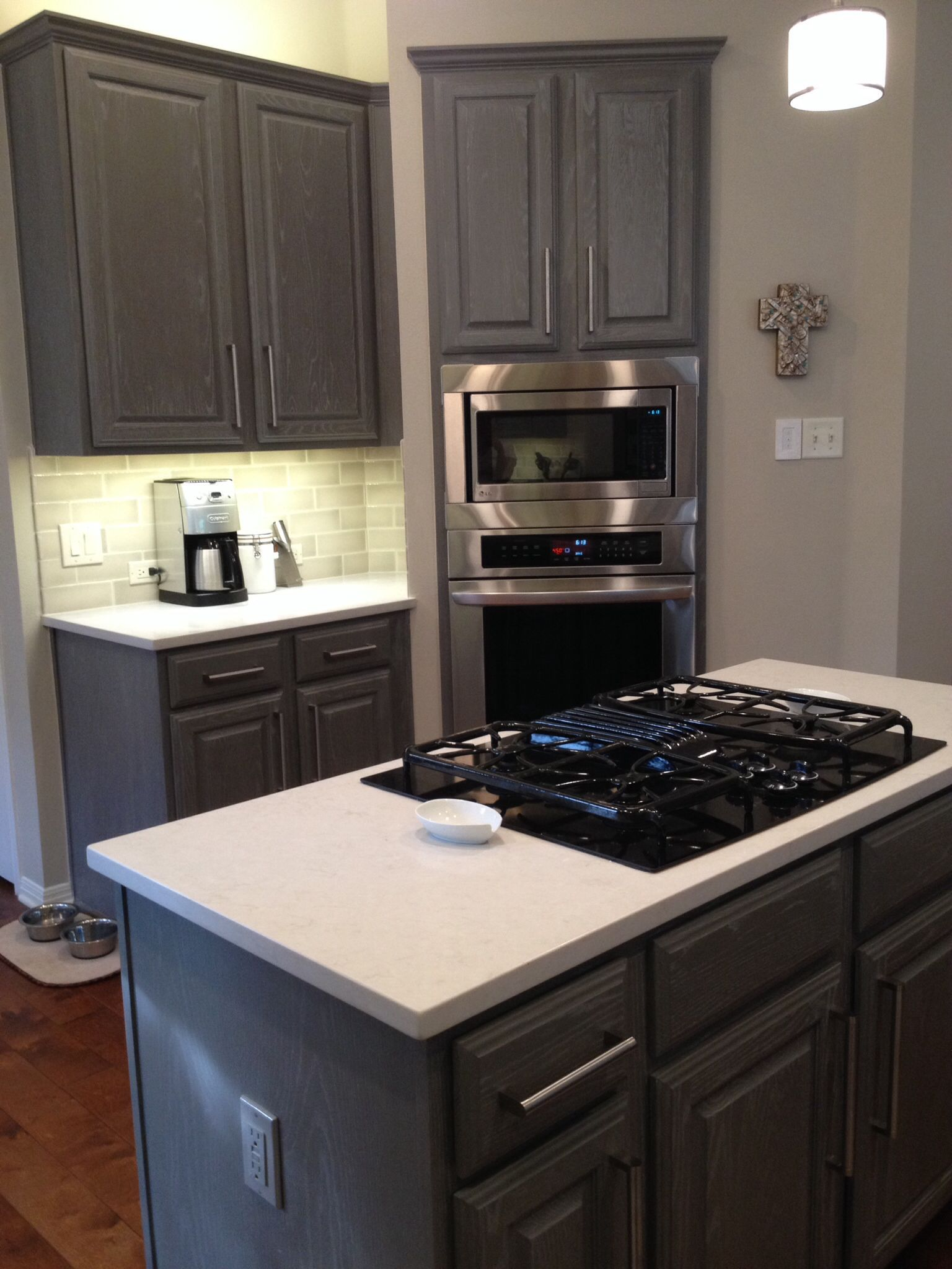 Coffee Color Kitchen Cabinets Fixtures Lowes Bar Sherwin Williams Gauntlet Gray Sw7019